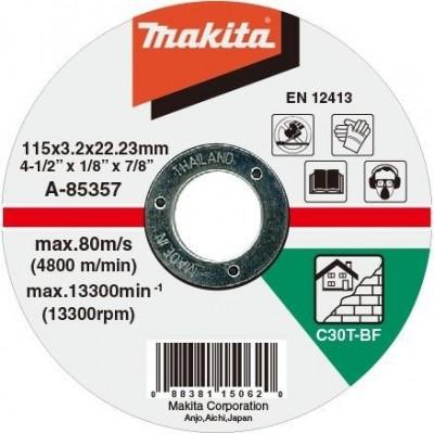 Makita řezný kotouč 115x3x22 kámen