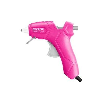 Pistole tavná lepící, ∅7,2mm, 25W, růžová